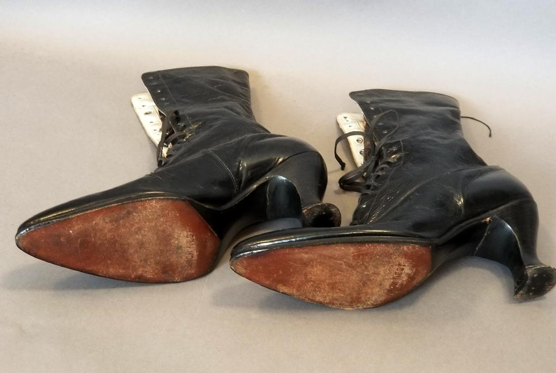 Black High Laced Shoes - 4