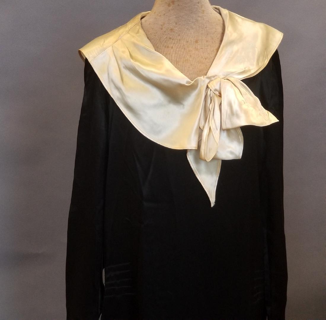Black and White Silk Dress - 2