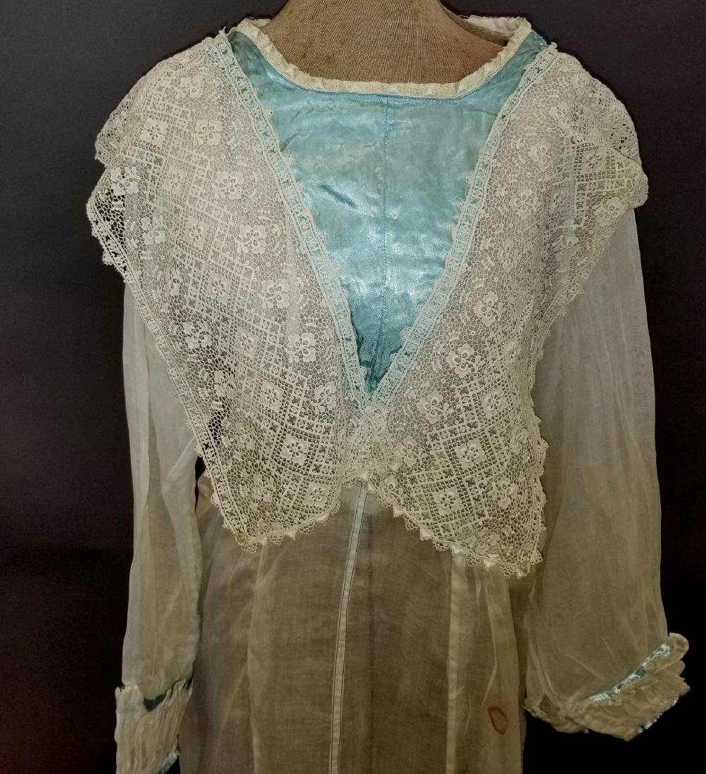 Lace and Linen Day Dress - 2