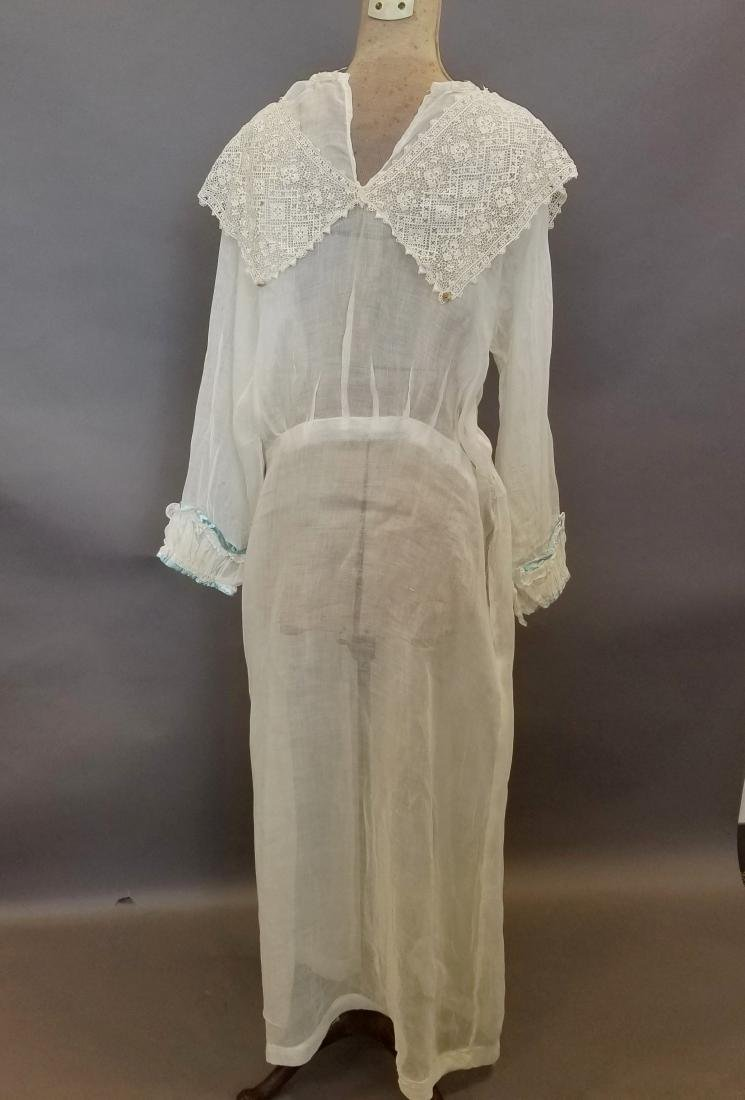 Lace and Linen Day Dress - 3