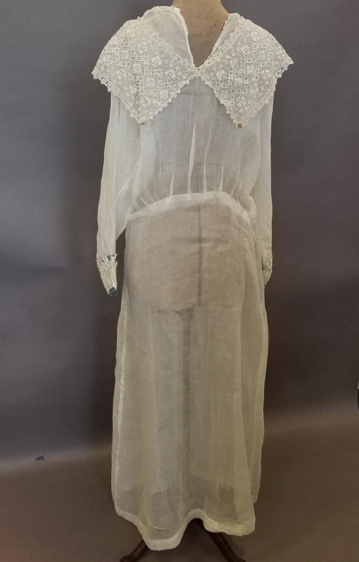 Lace and Linen Day Dress - 5
