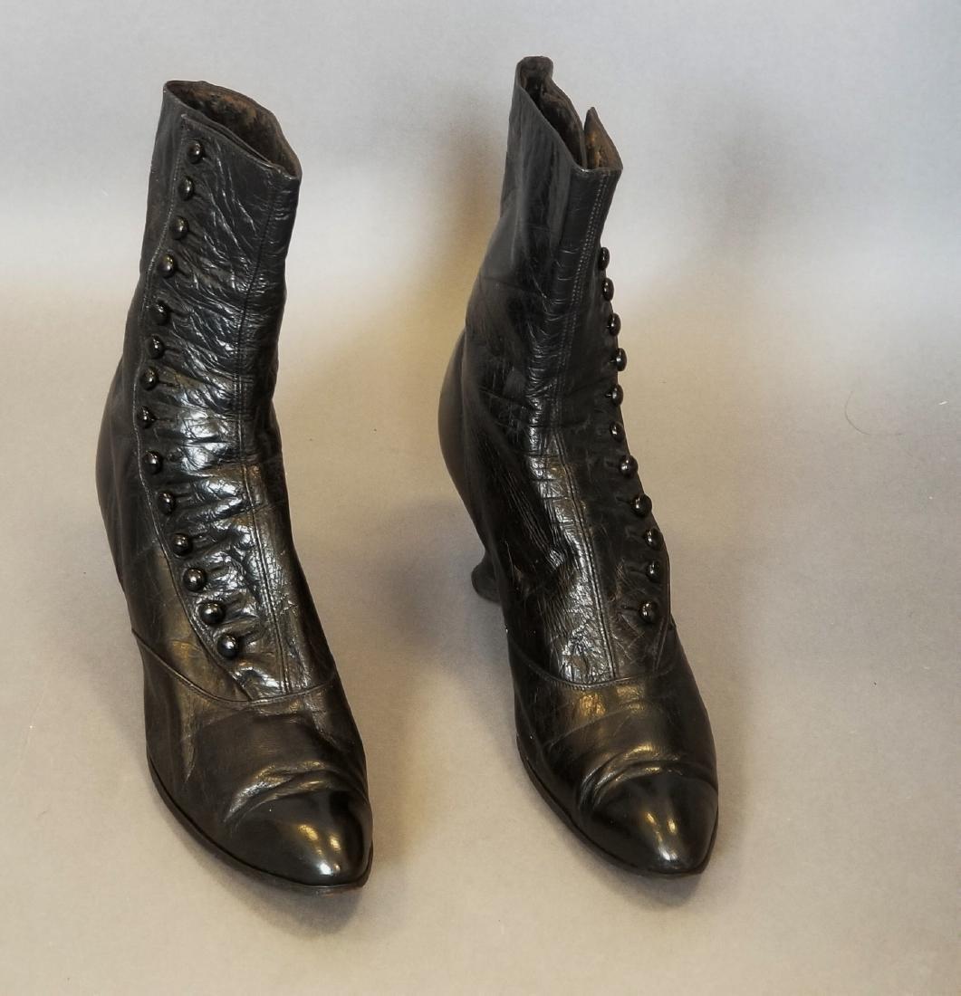 Black High Button Shoes