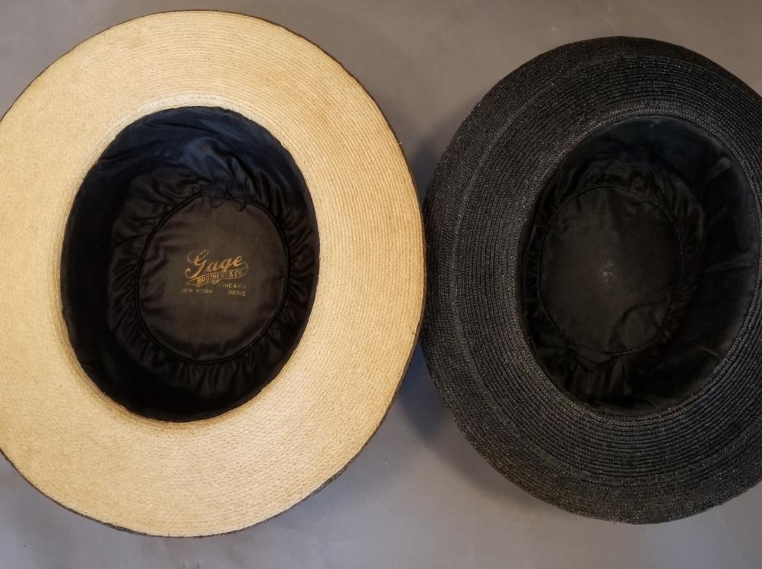 Two Wide Brim Straw Hats - 2