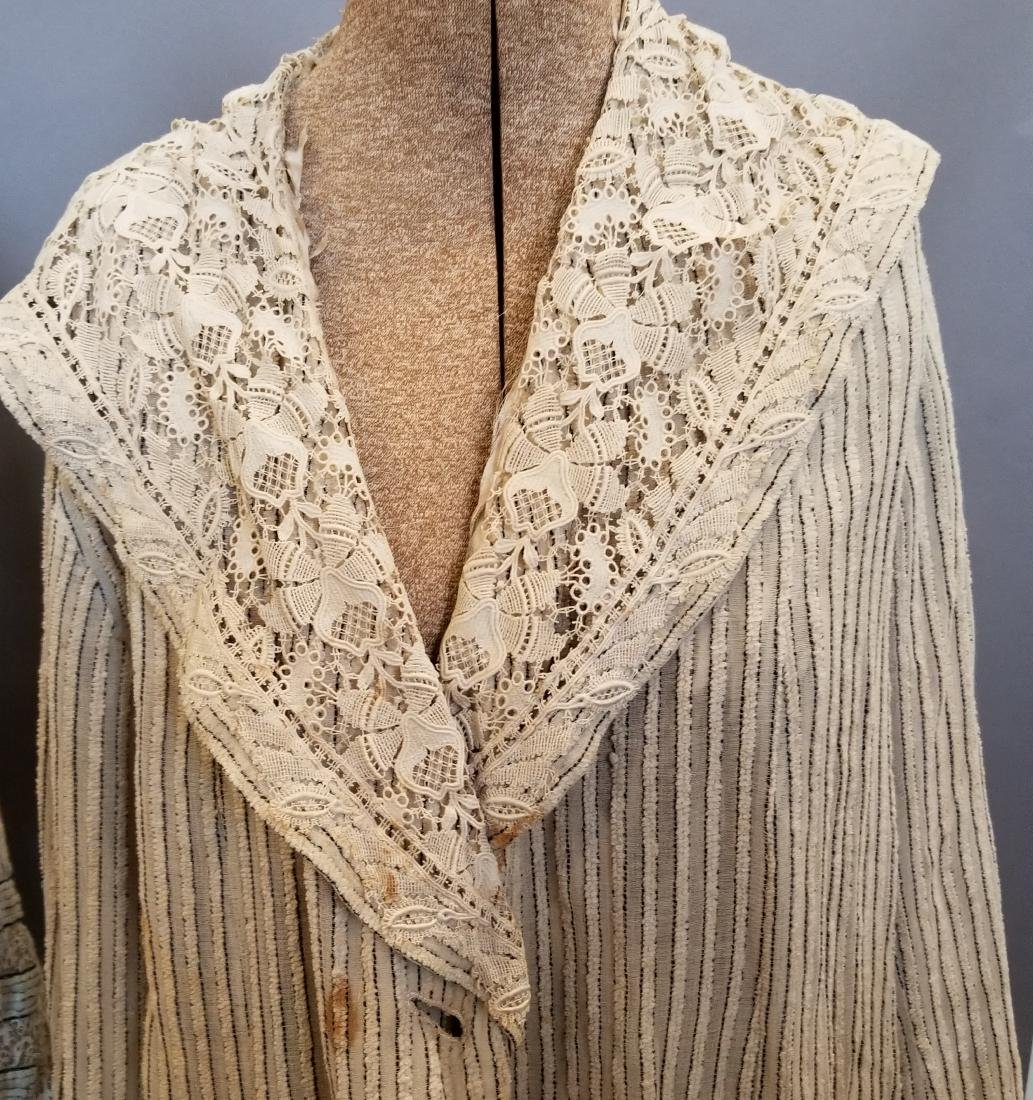 Two Pieces, Striped Chenille Jacket and Top - 2