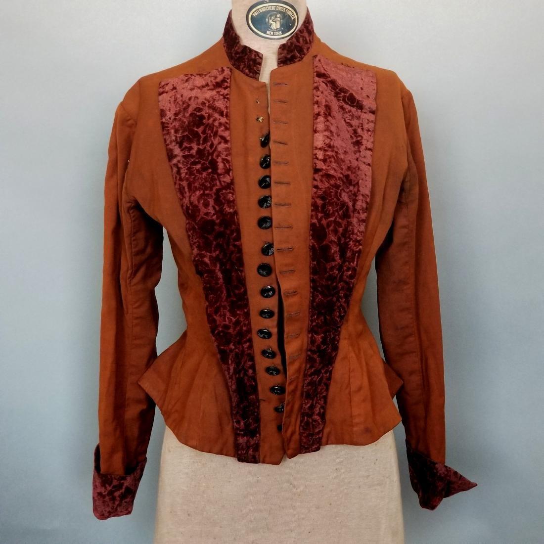 Brown Cotton Velvet Jacket