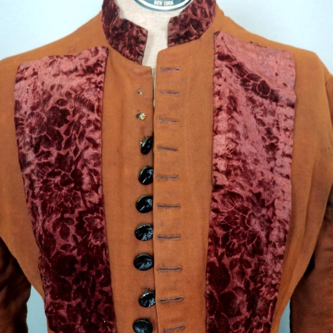 Brown Cotton Velvet Jacket - 2
