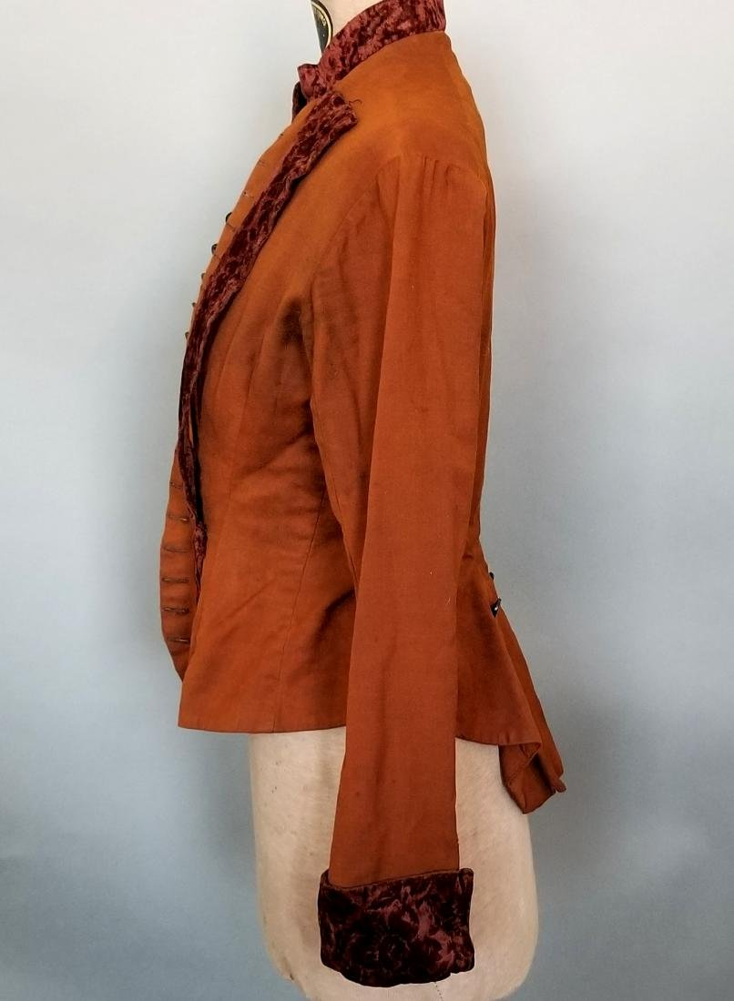 Brown Cotton Velvet Jacket - 3