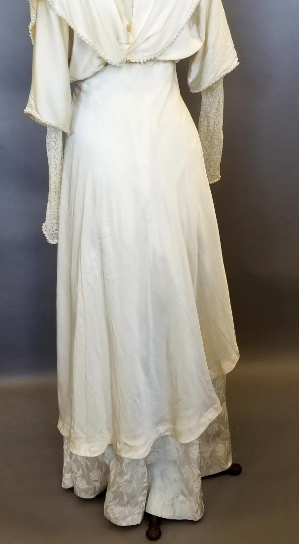Silk,Lace & Pearls Wedding Dress - 7