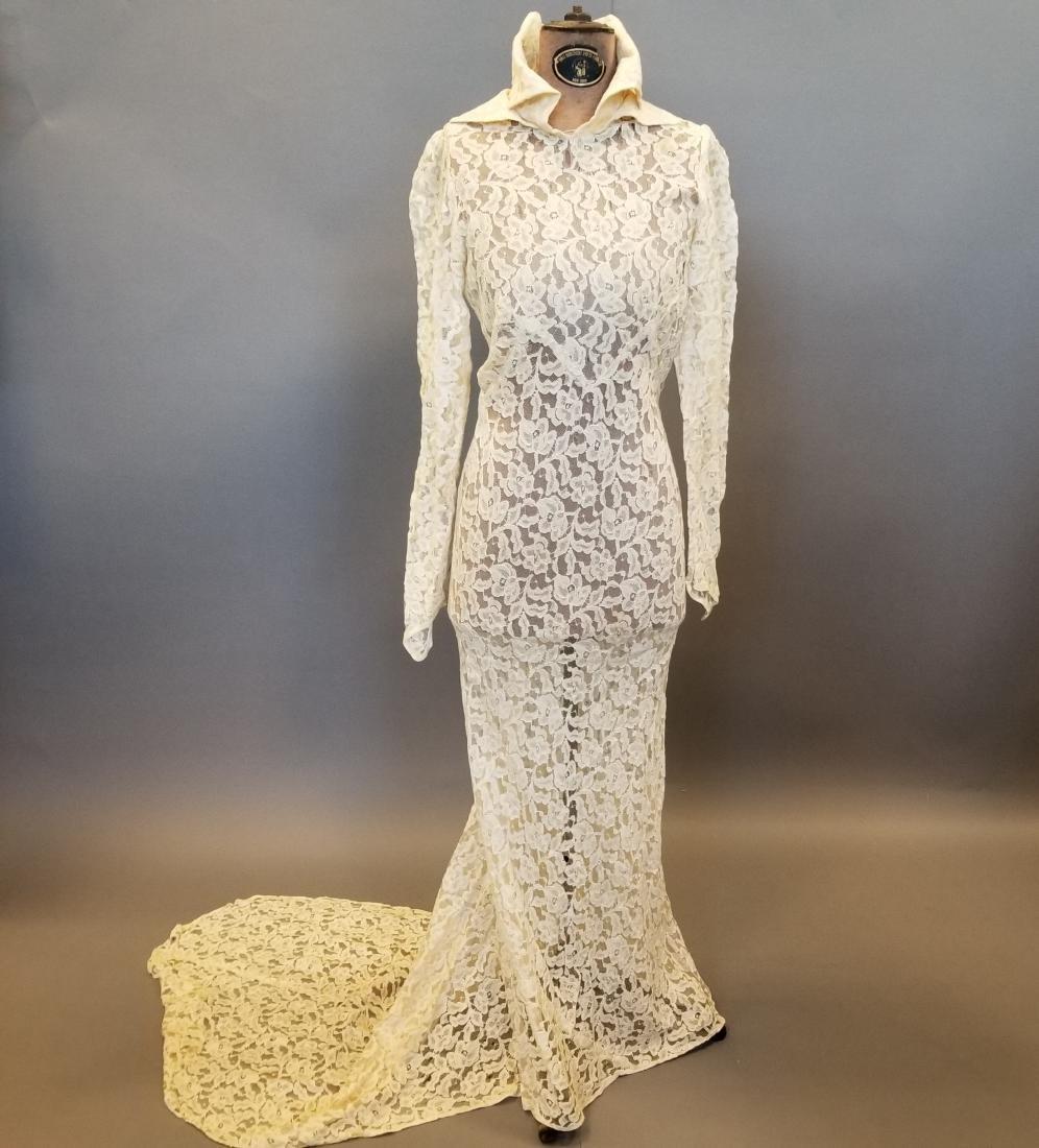 Duchess-of-Windsor Style Wedding Dress