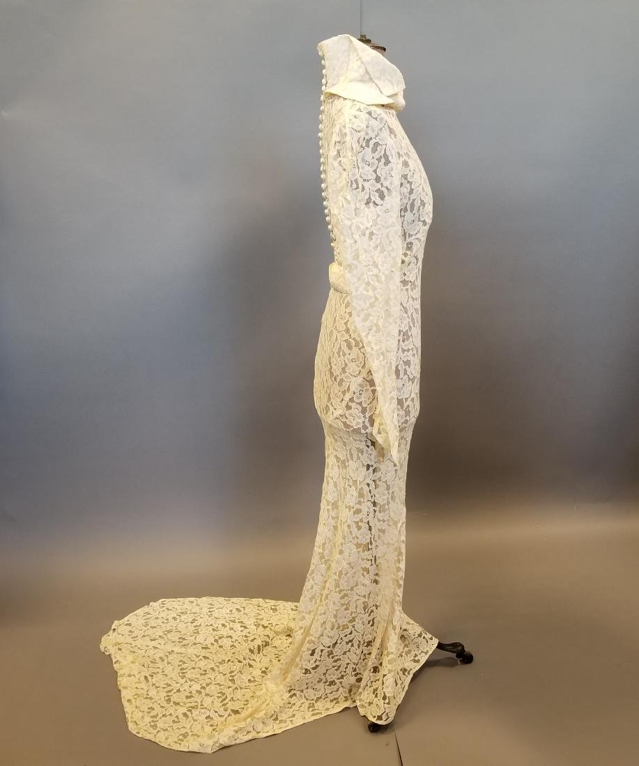 Duchess-of-Windsor Style Wedding Dress - 4