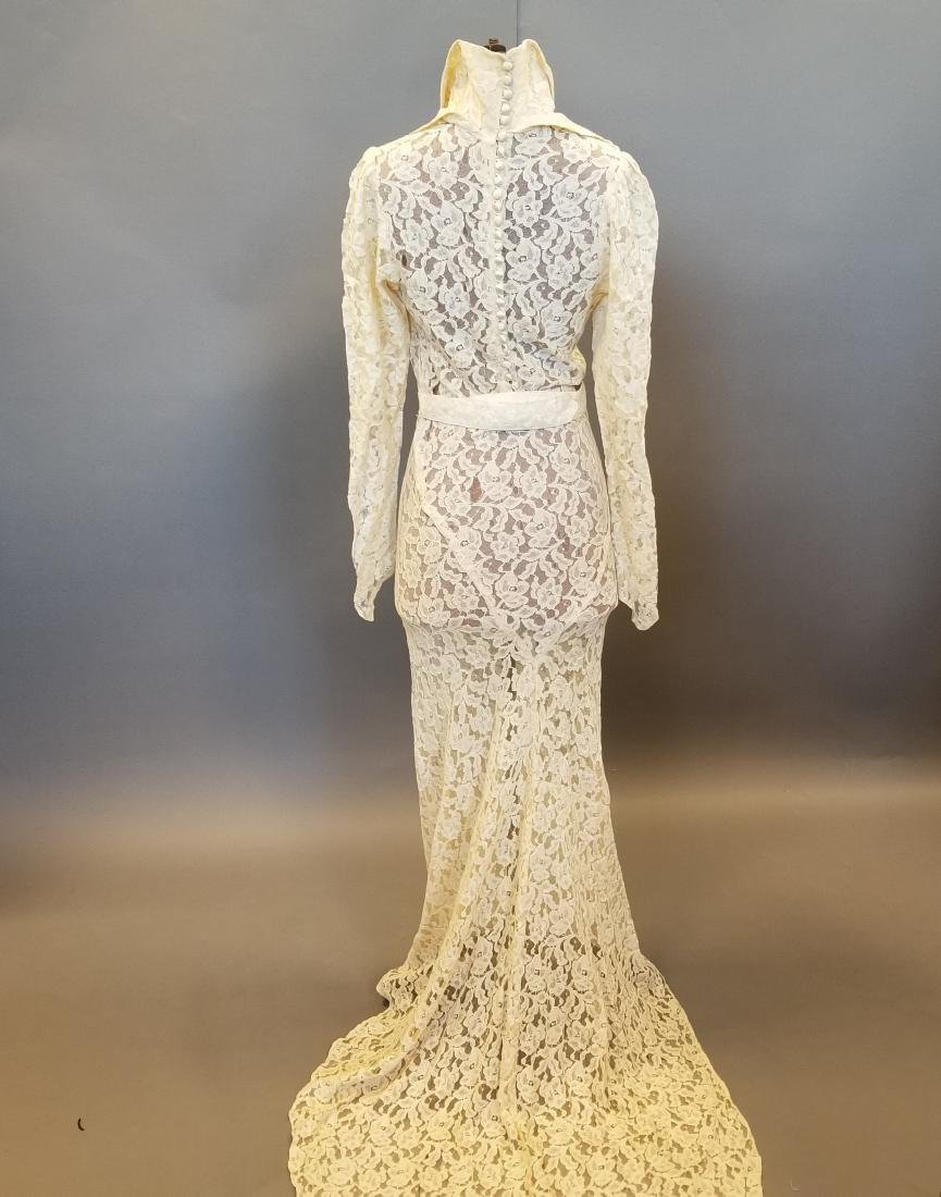 Duchess-of-Windsor Style Wedding Dress - 5