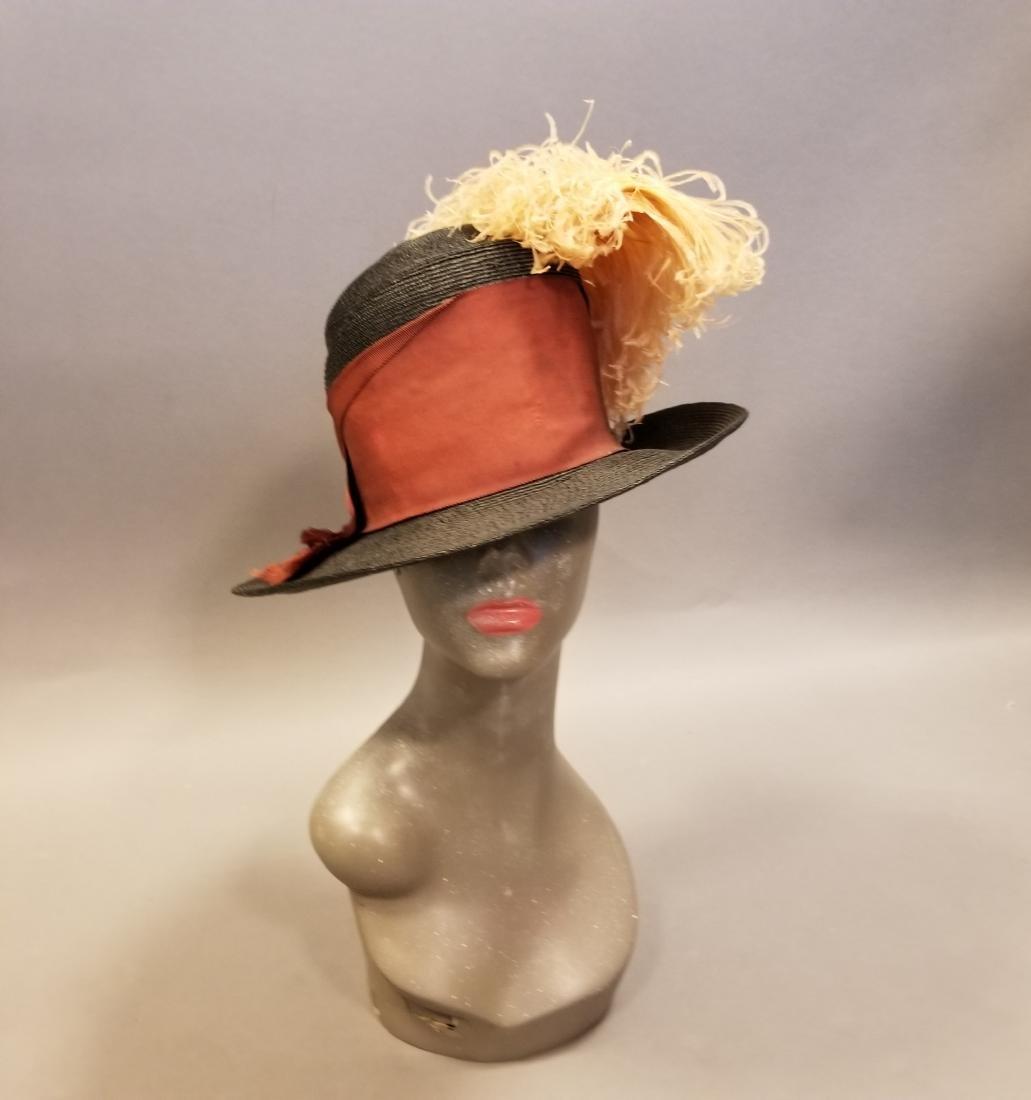 Black Fashionable Straw Hat - 2