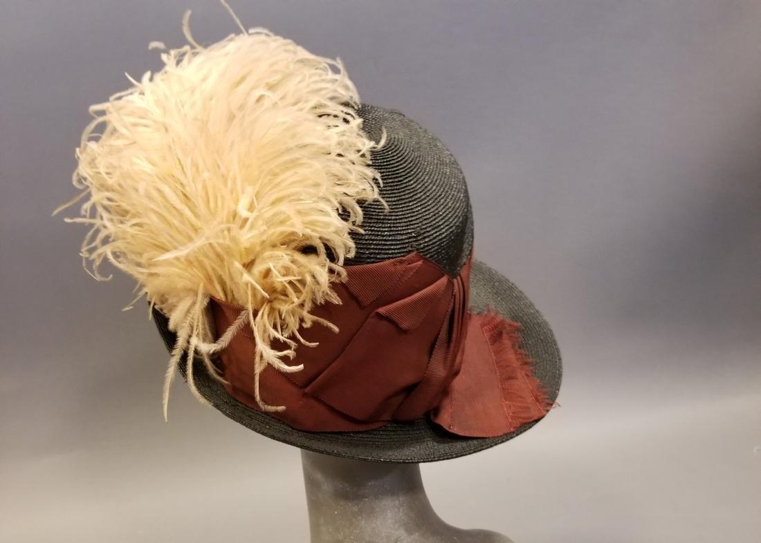 Black Fashionable Straw Hat - 3