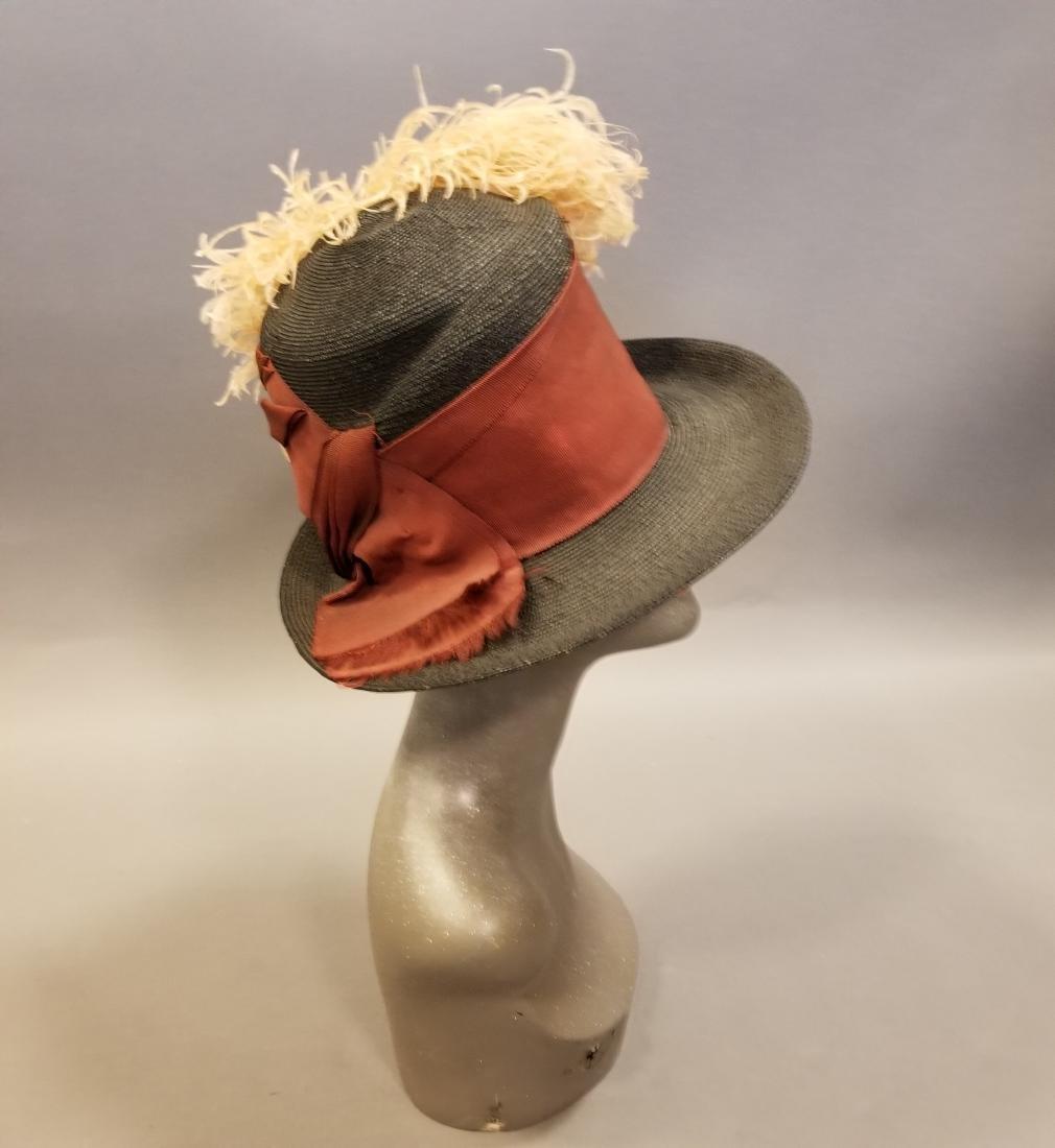 Black Fashionable Straw Hat - 4