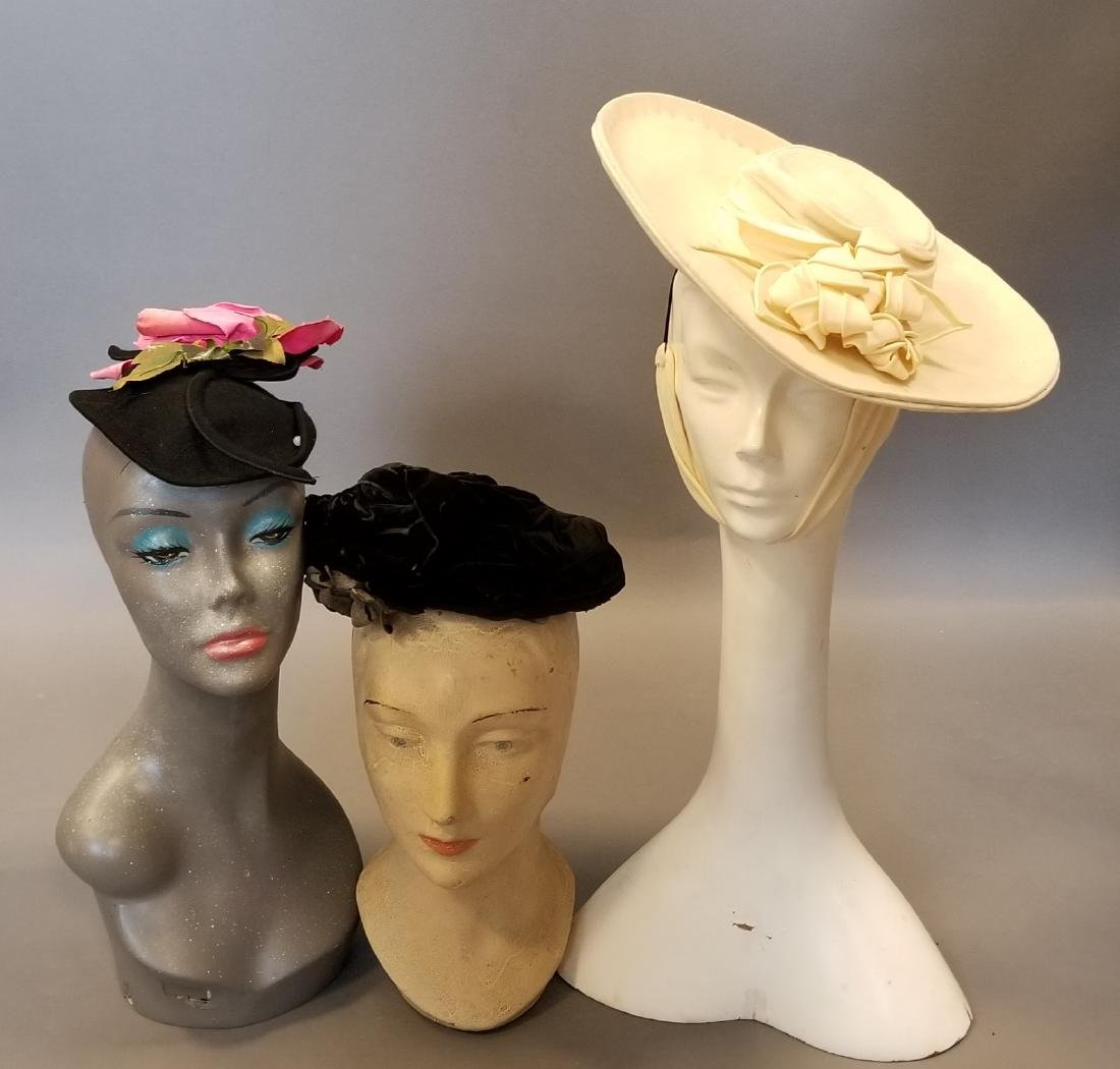 Antique Hat Grouping - 3