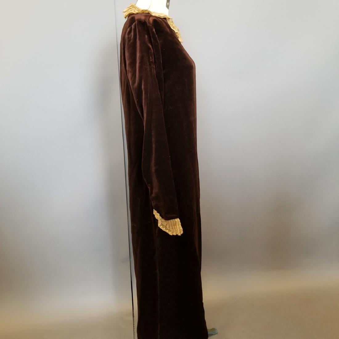 Velvet Wedding Dress - 3
