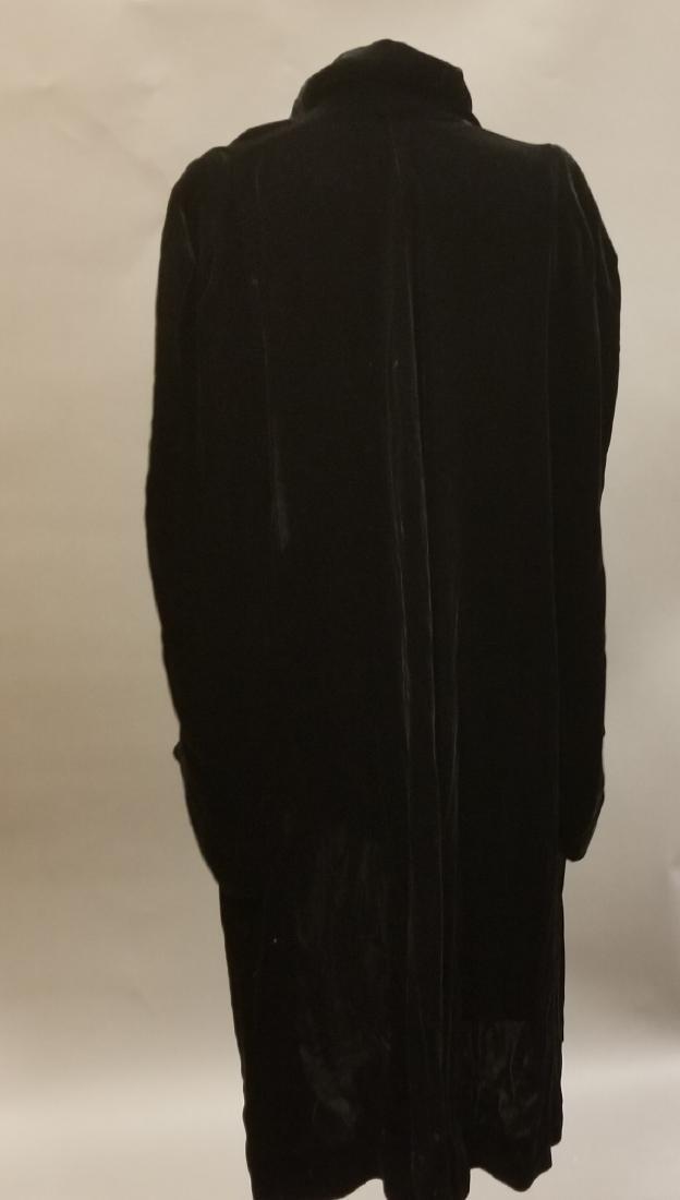 Black Velvet Evening Coat - 4