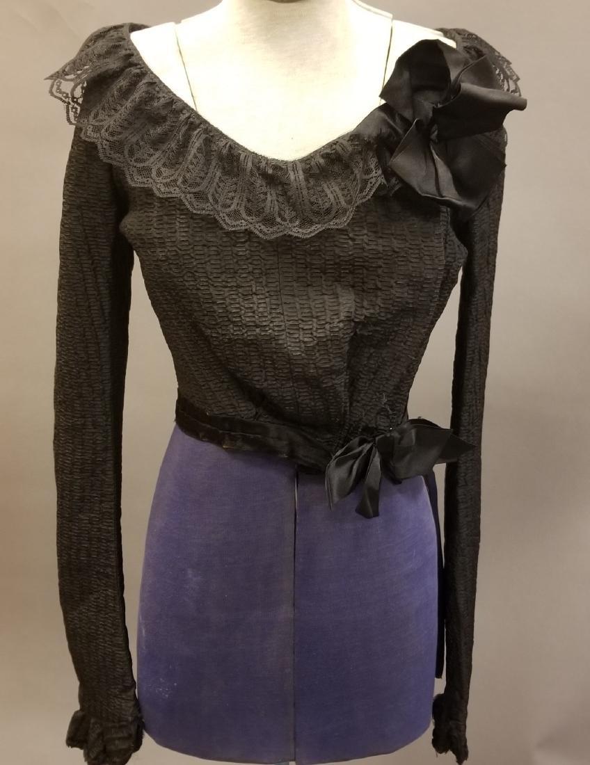 Black Silk Bodice