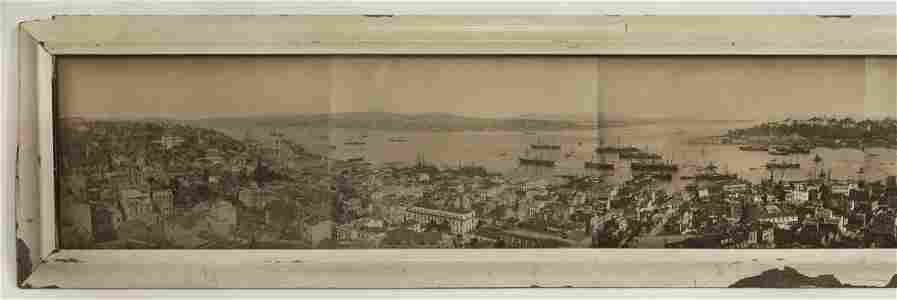 ISTANBUL TURKEY HISTORIC EARLY 7 FT PANORAMA