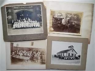 CLASSROOMS DORMITORIES 9 ANTIQUE PHOTOS
