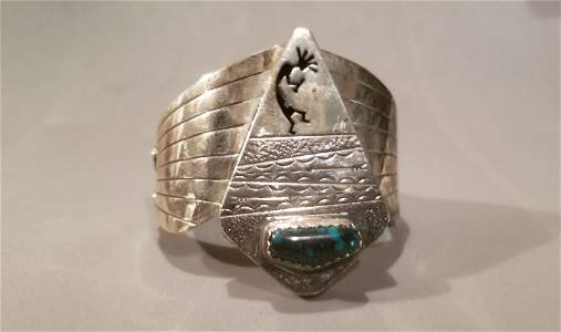 Antique Navajo Sterling Cuff Bracelet
