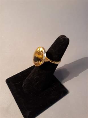 14kt Gold Citrine Ring