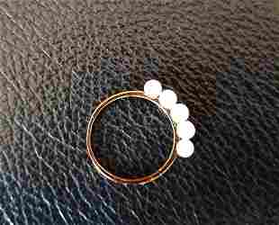 18Kt Yellow Gold Pearl Ring