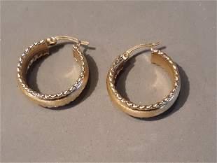 Pair 14kt Gold Earrings