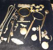 Antique Victorian Jewelry Grouping Gold-Filled