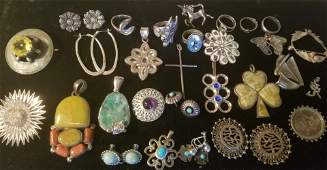 Collection of Vintage Sterling Silver Jewelry