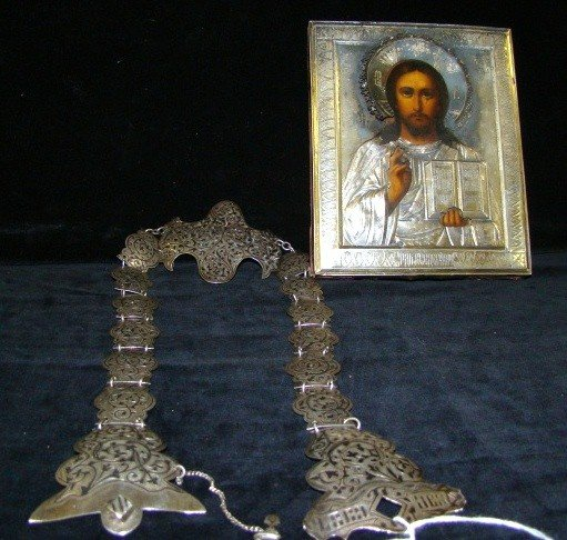 9: Russian Icon and Russian Silver  Belt