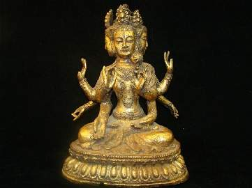 68: Large Chinese Gilt Statue