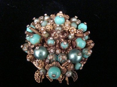 19C: Early Miriam Haskell brooch