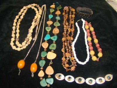 4: Ethnic Necklaces and Siamese Bracelet Lot