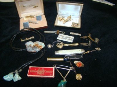 5: Men's Accessories Lot ,Cufflinks Etc.