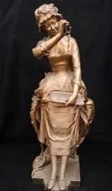 91: Bronze of Woman by  Ferrand, Salon des Arts 1890 Ex