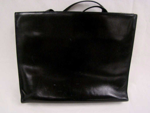 13: Black Leather Prada Evening Bag
