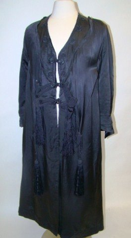 16: Silk Satin Edwardian Coat with Tassels