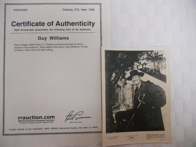 6: Rare Signed Guy Williams Promotion  Photo
