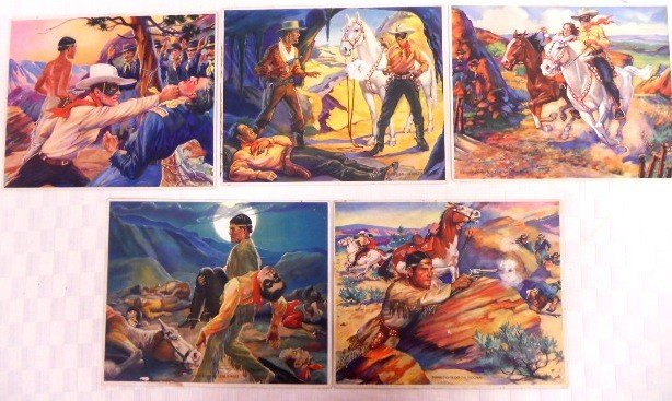 7: Lot of 5 Lone Ranger Photo Cards