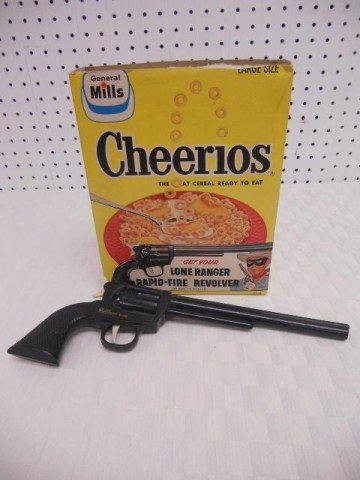 10: Lone Ranger Cheerios Box with Revolver