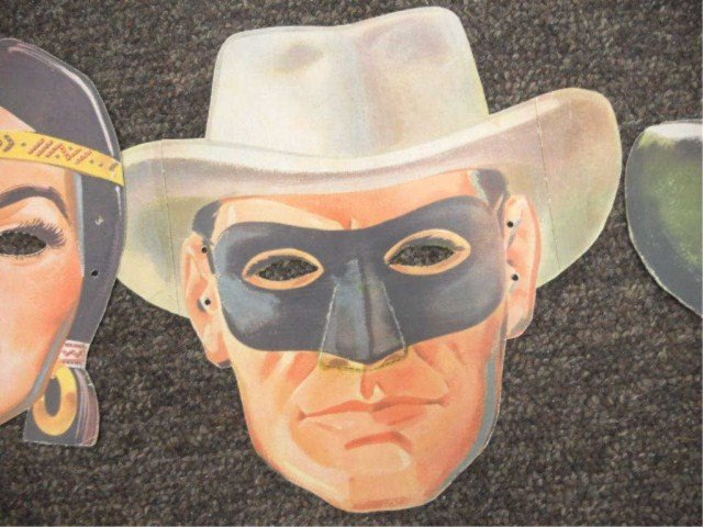 19: Lot of 5 Lone Ranger and Friends Masks