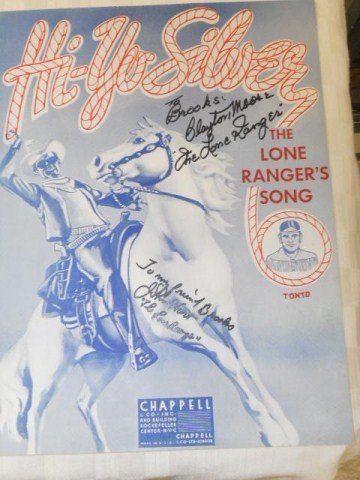 21: Autograph Clayton Moore Sheet Music