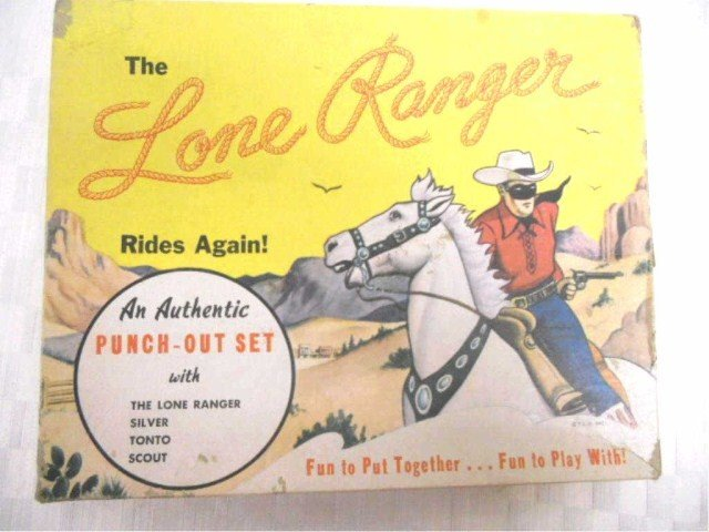 23: Original  Lone Ranger Punch- Out Set
