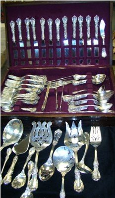 228A: Reed & Burton Sterling Flatware Service 106 pcs.
