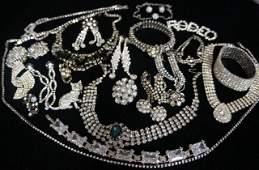 3: Rhinestone Jewelry Lot