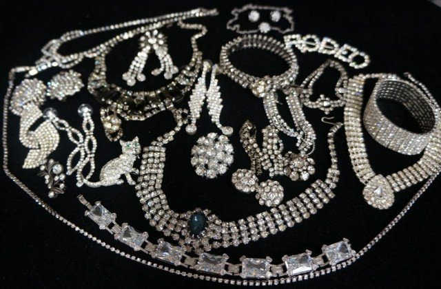 3: Rhinestone Jewelry Lot