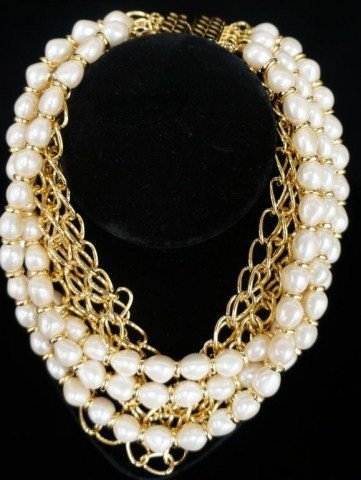 4: Kenneth Lane 5-Strand Faux Pearl Necklace