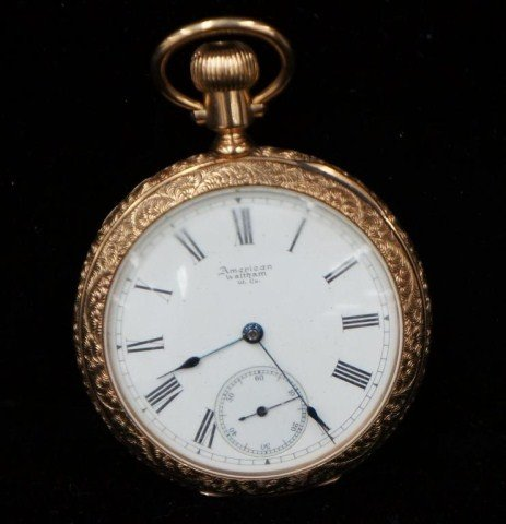 10: American Waltham 14K Pocket Watch
