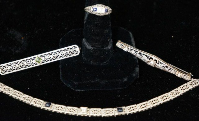 12: Diamond and Sapphire Lot